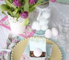 a simple springtime table setting filled with history, seasonal holiday d cor