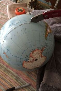 transforming a student globe to a basketball floorlamp for themed room, bedroom ideas, crafts, lighting, repurposing upcycling