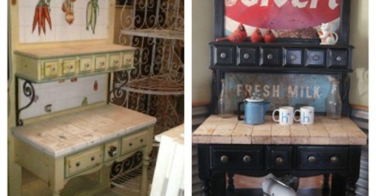 bakers rack turned coffee station | hometalk