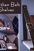 using mens belts to create cool hanging shelves, shelving ideas