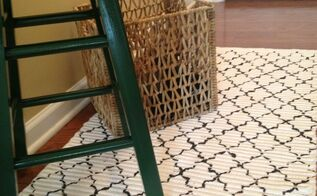 10 00 rug update how to stencil a rug, flooring, painting, Stencil Rug to update my entryway