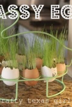 egg plants or grassy eggs, crafts, easter decorations, seasonal holiday decor