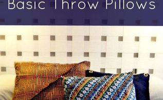 super easy throw pillows, crafts