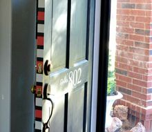 how to give your front door some pizazz while keeping the traditional look, doors, Painted pattern on edge of the front door
