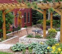 no porch no problem create the porch feeling with a patio in the front yard, landscape, outdoor furniture, outdoor living, patio, porches