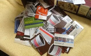 upcycling reuse repurpose art, repurposing upcycling, Old gift cards needing a use