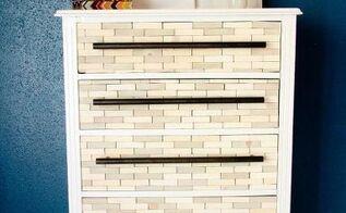 west elm inspired wood tile dresser, painted furniture, West Elm inspired dresser