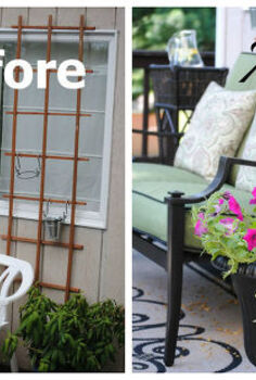 diy vertical herb garden trellis wall, flowers, gardening, Can you believe the transformation A dirty and neglected wall becomes an oasis of outdoor living we gained a whole new outdoor living room