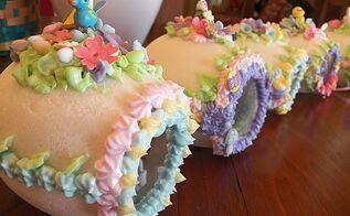 panoramic sugar easter eggs, easter decorations, seasonal holiday d cor