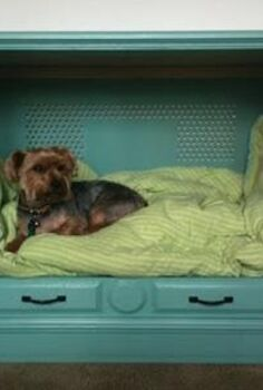 doggie bed, painted furniture, repurposing upcycling, Reuse an old TV cabinet for a customized dog bed