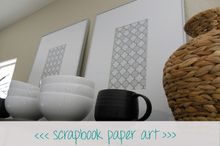 scrapbook paper art, home decor, kitchen design, storage ideas, Scrapbook Paper Art