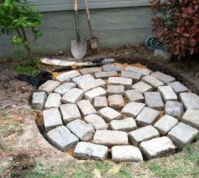 Attractive Recycled Granite Block Patio, Outdoor Living, Patio, I Dug My Hole About 3
