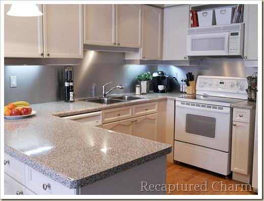 Backsplash With The Look Of Stainless Steel Home Decor Kitchen Backsplash Kitchen Design