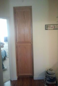 linen cabinet amp media cabinet redo, cabinets, Before pic of hall cabinet