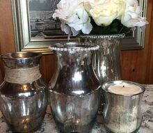 diy transform plain glass containers into embellished mercury glass, crafts, how to, repurposing upcycling