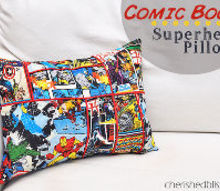 comic book superhero pillow, crafts