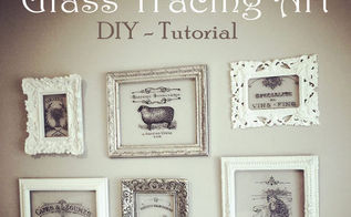 diy tracing on glass tutorial, crafts, home decor, how to, wall decor