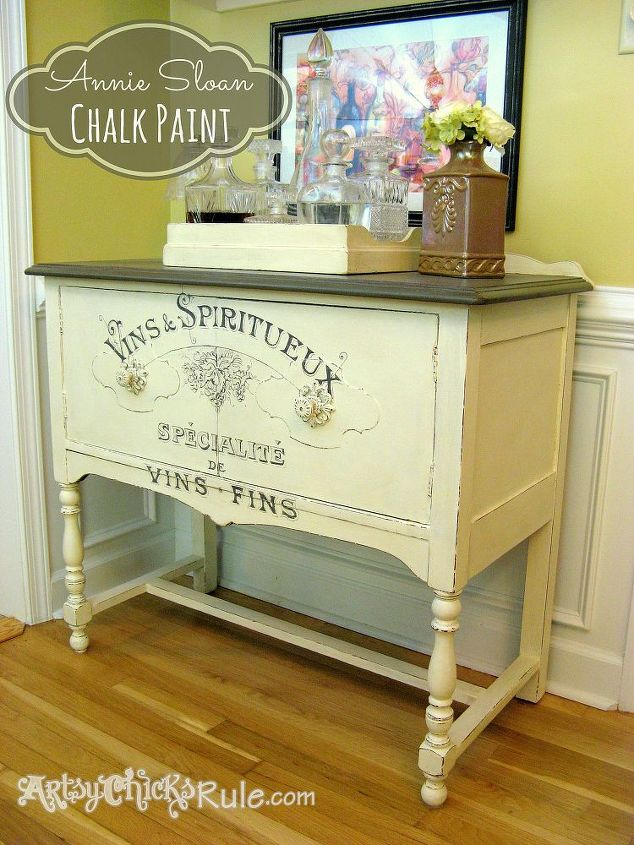 Old Estate Sale Sideboard 2nd Time 39 S The Charm Chalk Paint Graphics Hometalk