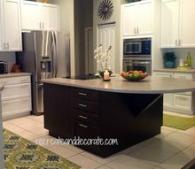 warming up the kitchen, home decor, kitchen design, kitchen island, espresso color island