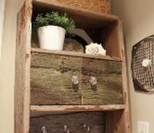 barnwood bathroom cabinet, bathroom ideas, diy, kitchen cabinets, repurposing upcycling, storage ideas, Barnwood wonderfulness