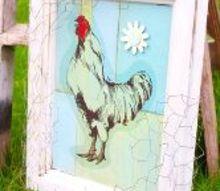 turn a cupboard door into junk art, crafts, repurposing upcycling, Rooster Junk Art
