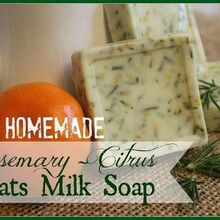 homemade rosemary citrus goats milk soap, crafts, I wish computers had smell a vision because the scent of these bars is AH mazing