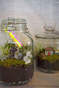 ireland in a jar, crafts, terrarium, Irish terrariums