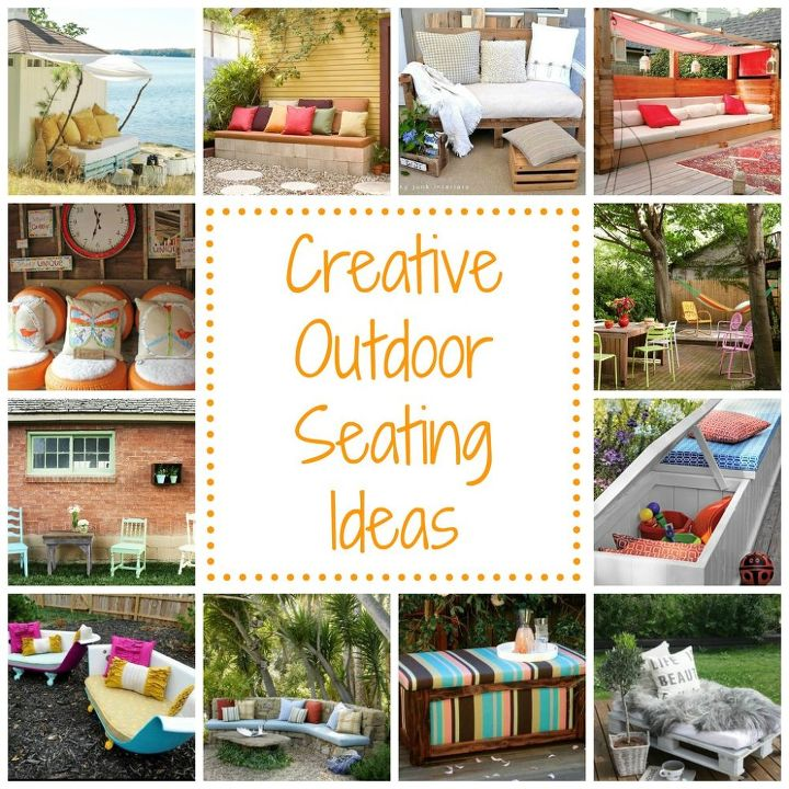 Outdoor seating ideas hometalk for Outdoor sitting area ideas