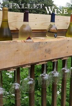 diy pallet wine rack, diy renovations projects, pallet projects, repurposing upcycling