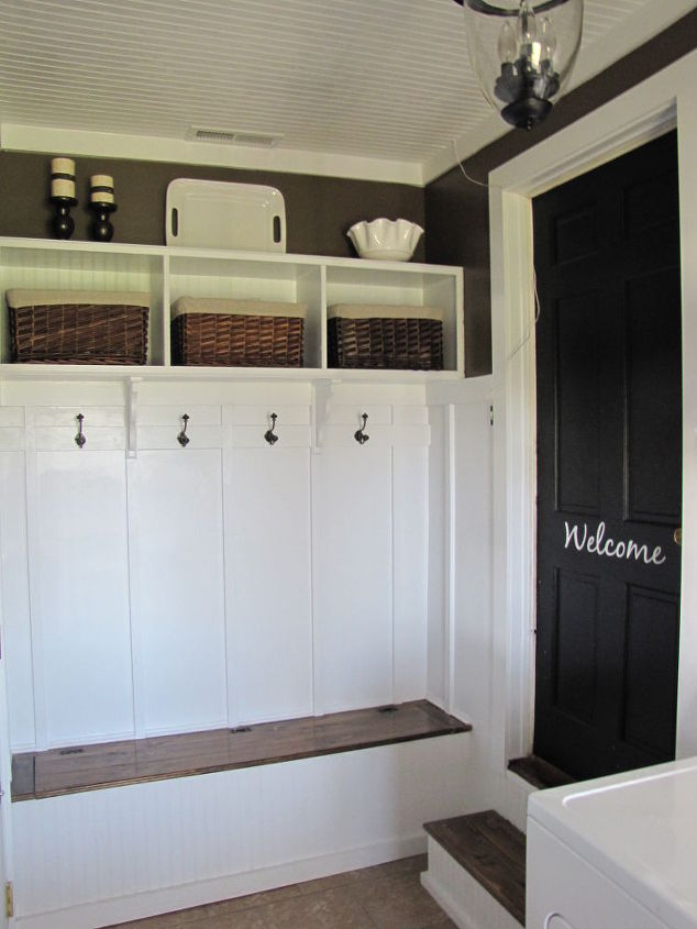 Adding a mudroom to our garage hometalk for Adding a room over the garage