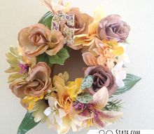 mothers day flowers faux sure, crafts, wreaths, Faux flower wreath