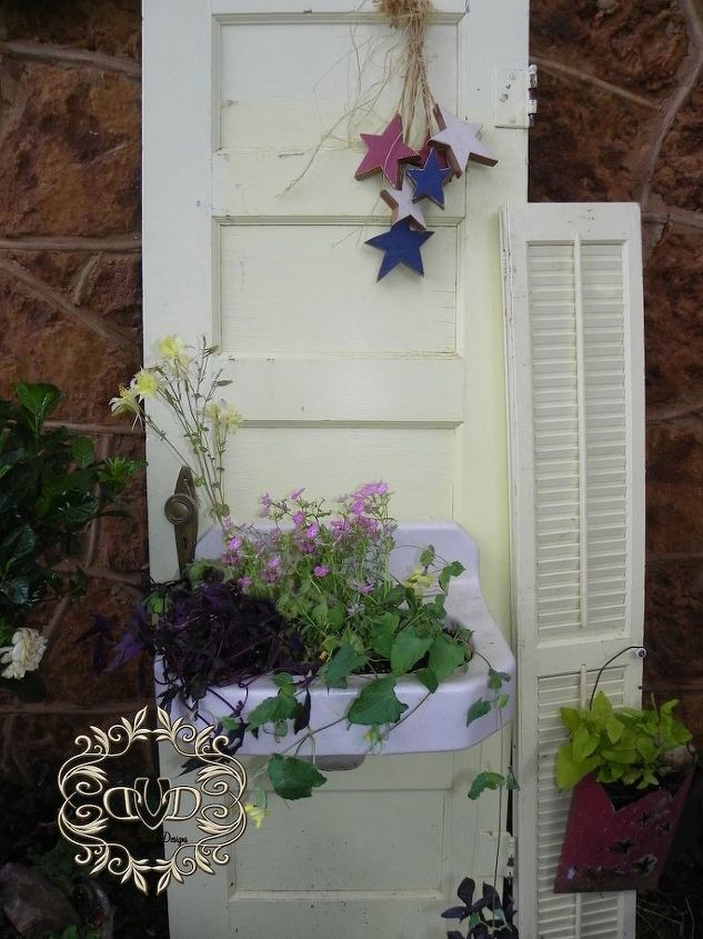 What to do with an old door and sink hometalk - What to do with old doors ...