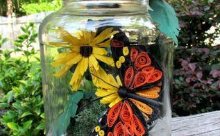 paper quilled butterfly in a jar, crafts, Quilled butterfly in a jar paper craft