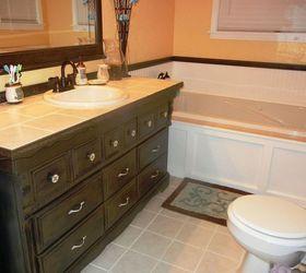 Dresser To Bathroom Vanity, Bathroom Ideas, Home Decor, Painted Furniture,  Repurposing Upcycling