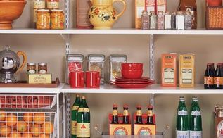 diy pantry, closet, diy, storage ideas, I found this photo on HGTVRemodel s website While this look is clean I want to steer away from the metal rails to hold the shelving