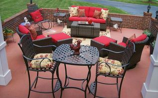 my patio reveal, outdoor furniture, outdoor living, patio