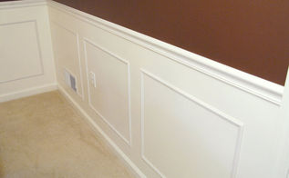 step by step guide to installing molding, diy, wall decor, woodworking projects, Check out the post for a link to a video explaining a trick for trimming molding corners so the joints fit tightly