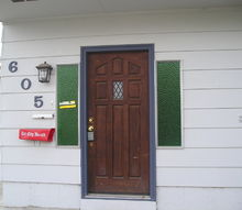 q is there a way to paint colored windows, doors, painting, This is my ugly front entry The photo was taken prior to me purchasing the house