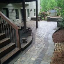 back yard patio challenge, concrete masonry, decks, outdoor living, patio
