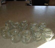 q mini jars, crafts, mason jars, organizing, repurposing upcycling, storage ideas