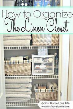 linen closet organization and a peek at my closet pharmacy, closet, home decor, organizing