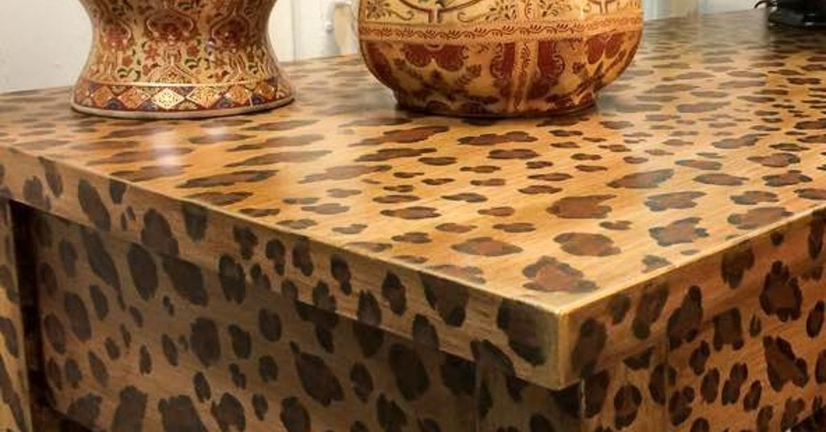 how to create a fabulous hand-painted leopard print finish | hometalk