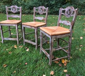 distressed paris grey bar stools chalk paint how to painted furniture painting