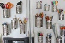 home organization art supplies, organizing