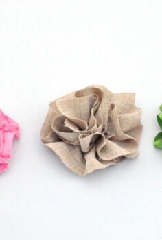 making fabulous fabric flowers, crafts, You can use all kinds of materials like ribbon felt or even an old bandana