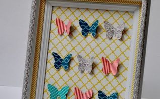 washi tape specimen art, crafts, home decor, Arrange the butterflies on scrapbooking paper and admire