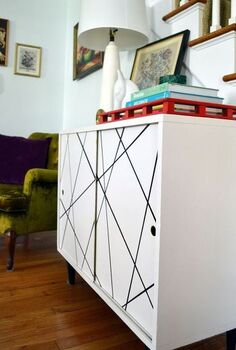 black white abstract art furniture, home decor, painted furniture