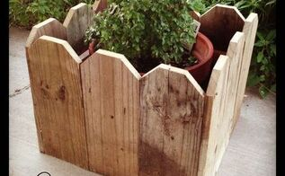 pretty picket planter, diy, gardening, how to, repurposing upcycling, woodworking projects, Finished Picket Planter