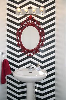 Accent Home Decor Chevron Bathroom Ideas Wall