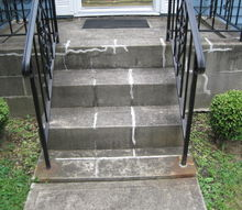 q any ideas for making my front porch more attractive, concrete masonry, curb appeal, home decor